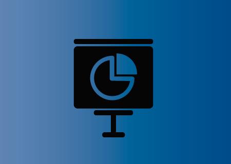 Icono de pantalla con gráfico