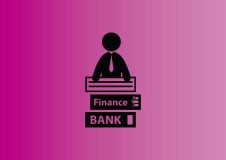 Icono de silueta humana sobre libros de finanzas